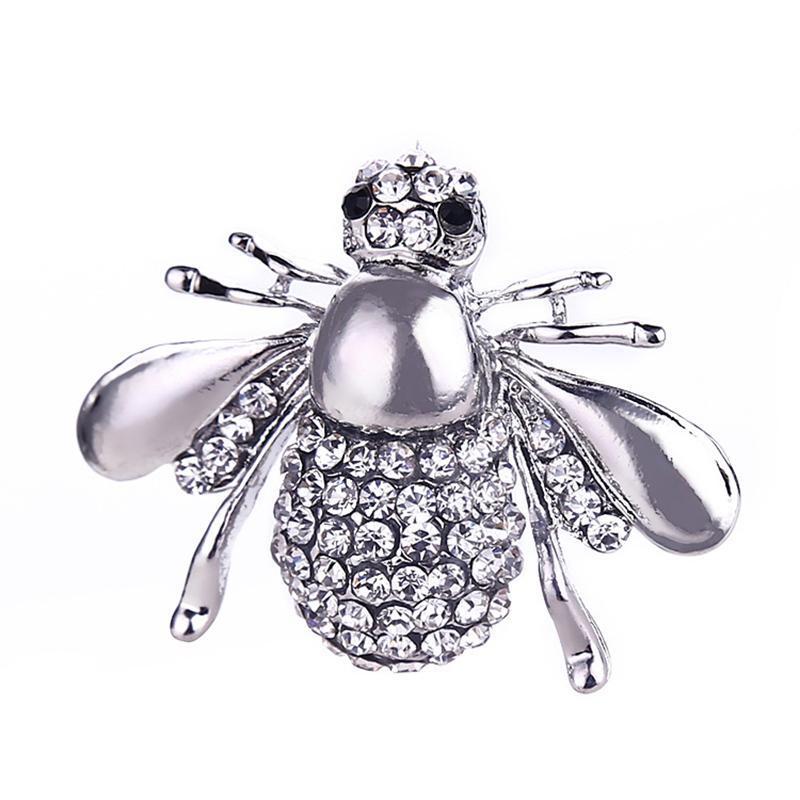 Брошь ( брошка ) серебристая пчела - Фото 4