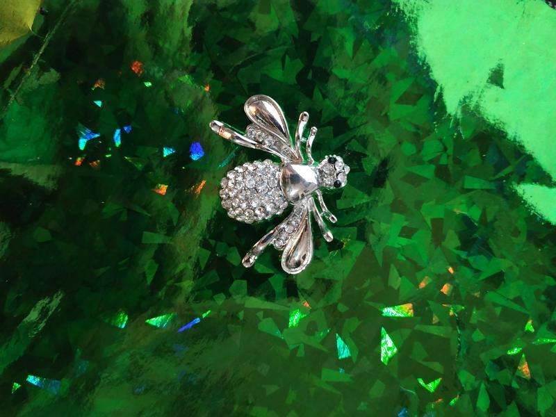 Брошь ( брошка ) серебристая пчела - Фото 5
