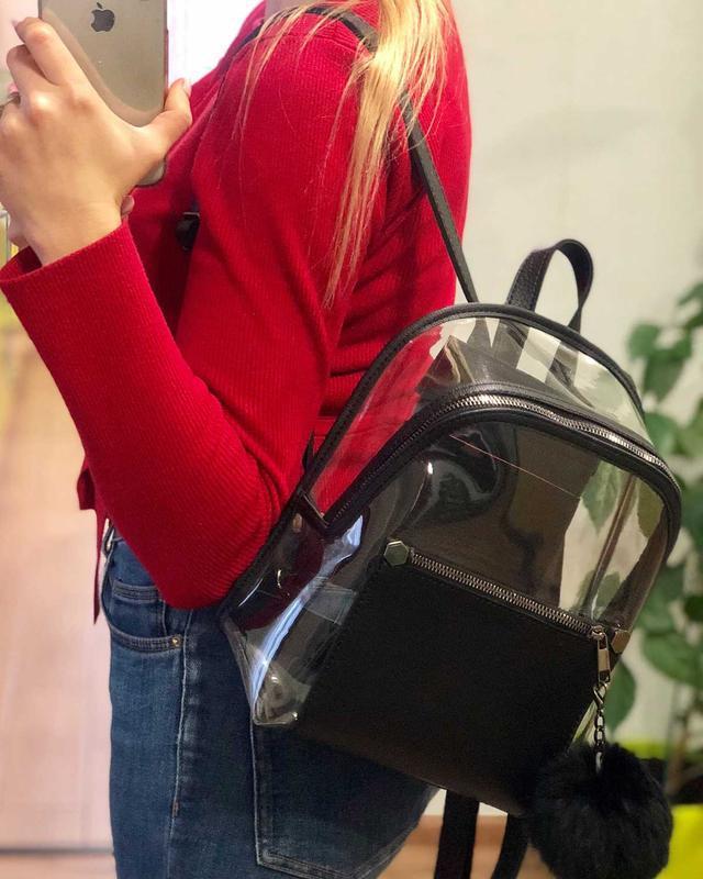 Рюкзак силиконовый, черный - Фото 2