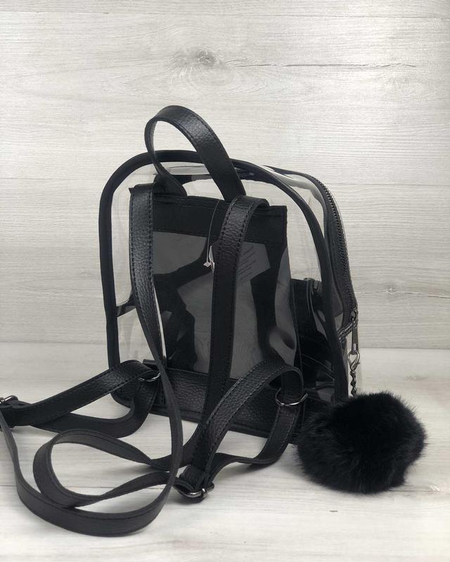 Рюкзак силиконовый, черный - Фото 3