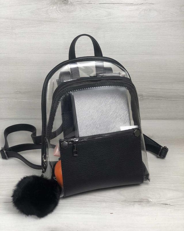 Рюкзак силиконовый, черный - Фото 4