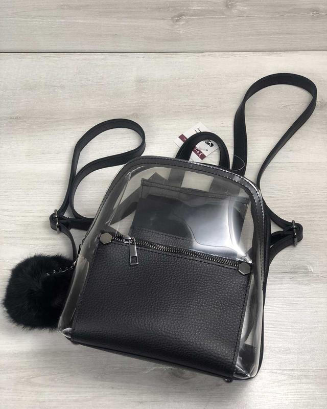 Рюкзак силиконовый, черный - Фото 5