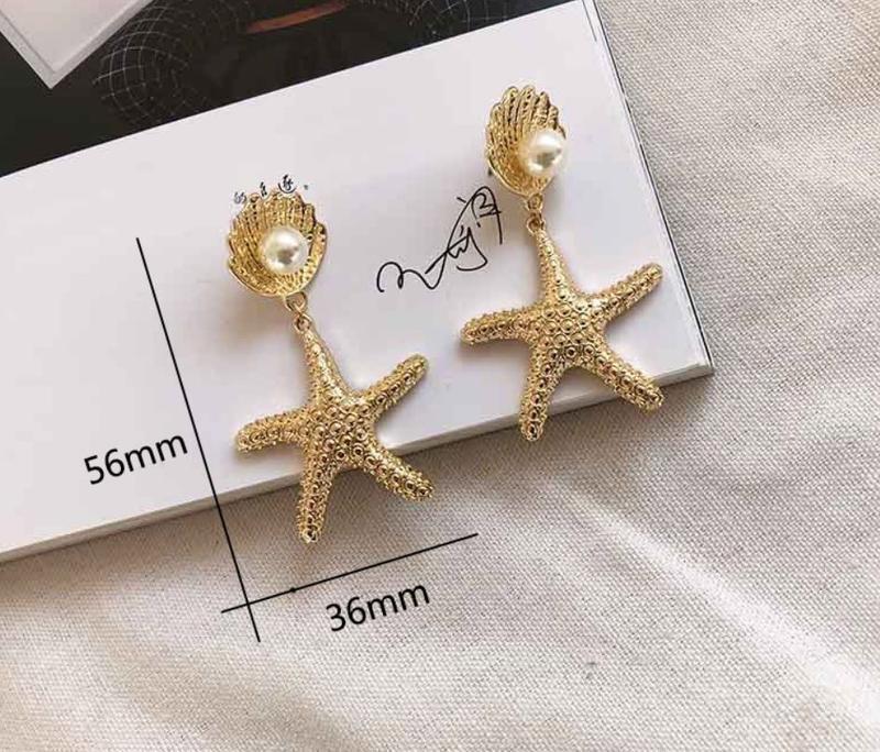 Стильные серьги морская звезда с жемчужинкой - Фото 3