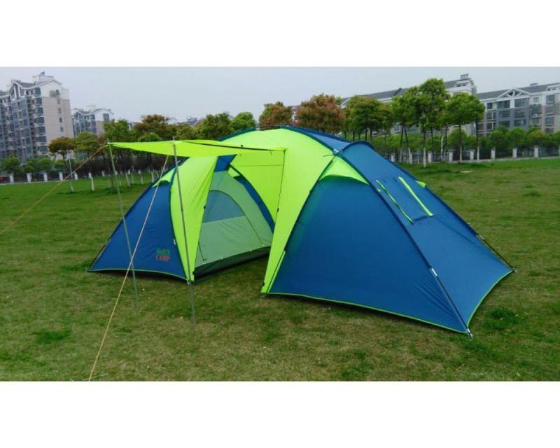 Палатка 6-ти местная Green Camp 1002+дополнительный пол в тамбур.