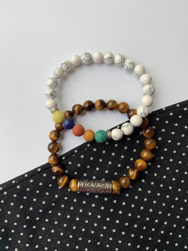 Набор браслетов, женский браслет из натуральных камней, парные...