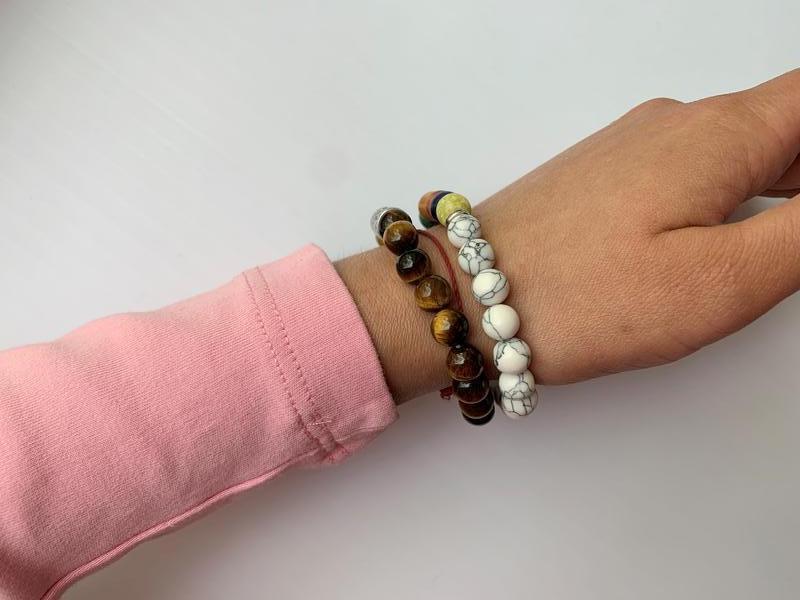 Набор браслетов, женский браслет из натуральных камней, парные... - Фото 3