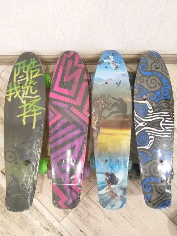 Скейт Пени Борд Penny Board. Светящиеся колеса