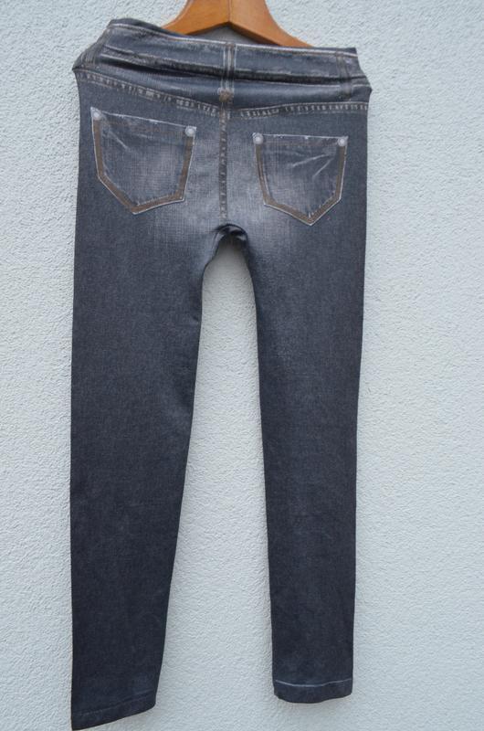 Красивые модные брюки лосины на девочку 10-12 лет - Фото 2