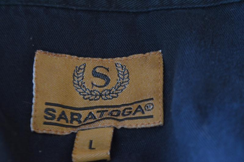 Шикарная рубашка из хлопка черная короткий рукав saratoga - Фото 5