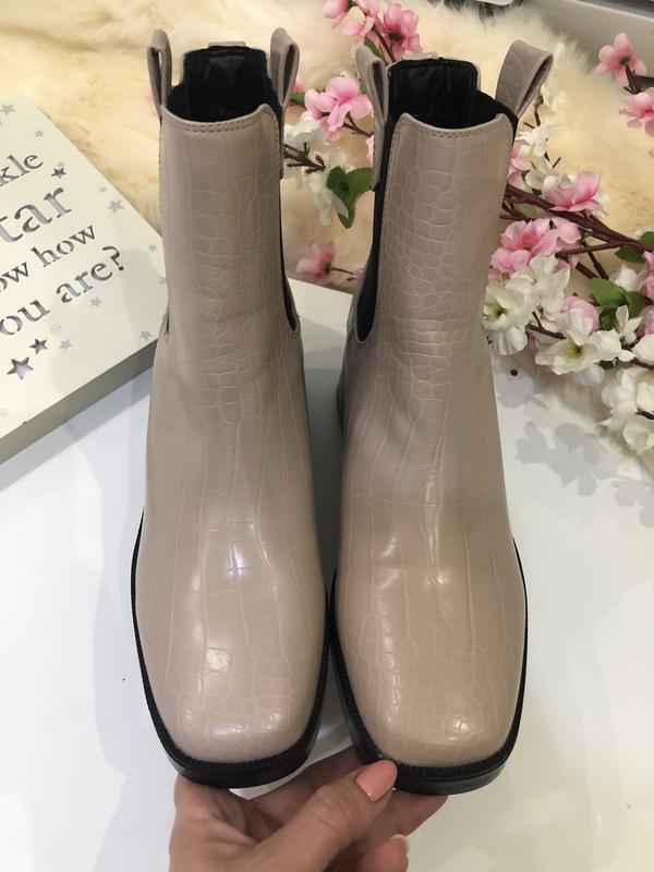 Удобные женские ботинки на толстом каблуке, сапоги осенние, - Фото 3
