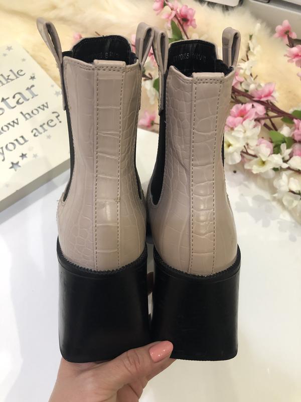 Удобные женские ботинки на толстом каблуке, сапоги осенние, - Фото 5