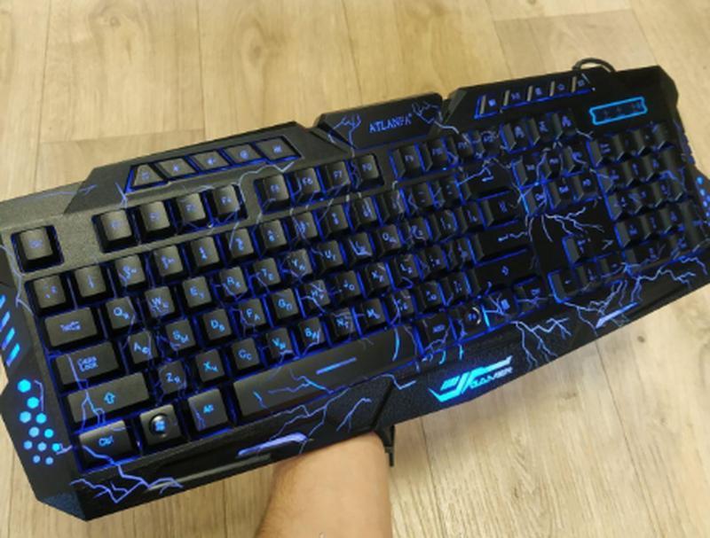 Игровая русская клавиатура с трехцветной подсветкой Gamer wireo - Фото 10