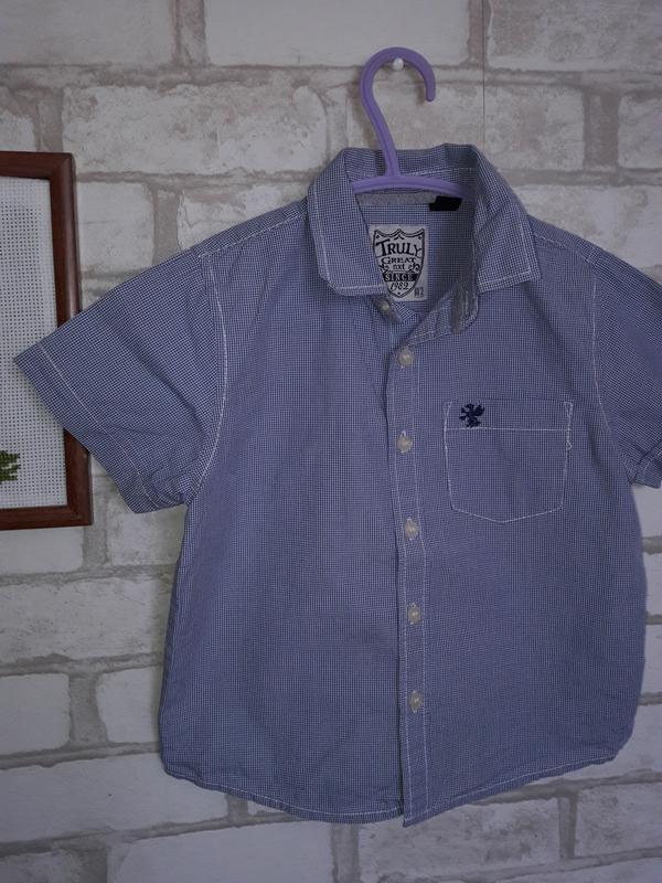 Стильная рубашка next 2-3 г 98 см