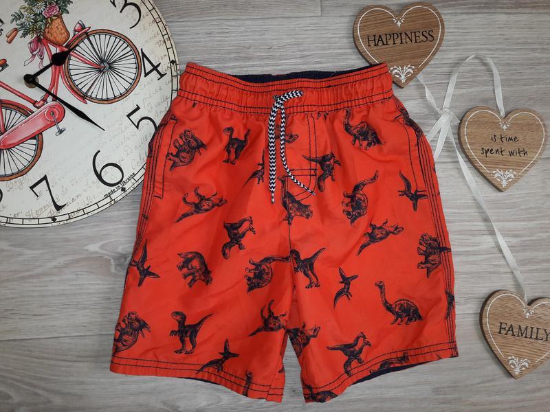 Яркие оранжевые шорты 3-4 г 98-104 см