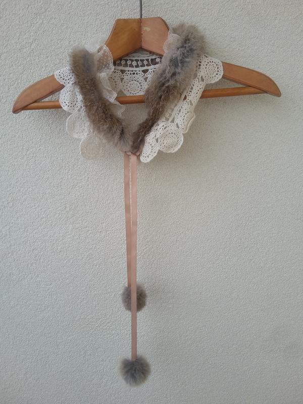 Красивейшее украшение из натурального меха и ажура#воротник# - Фото 4