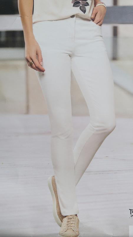 Штаны джинсы белые