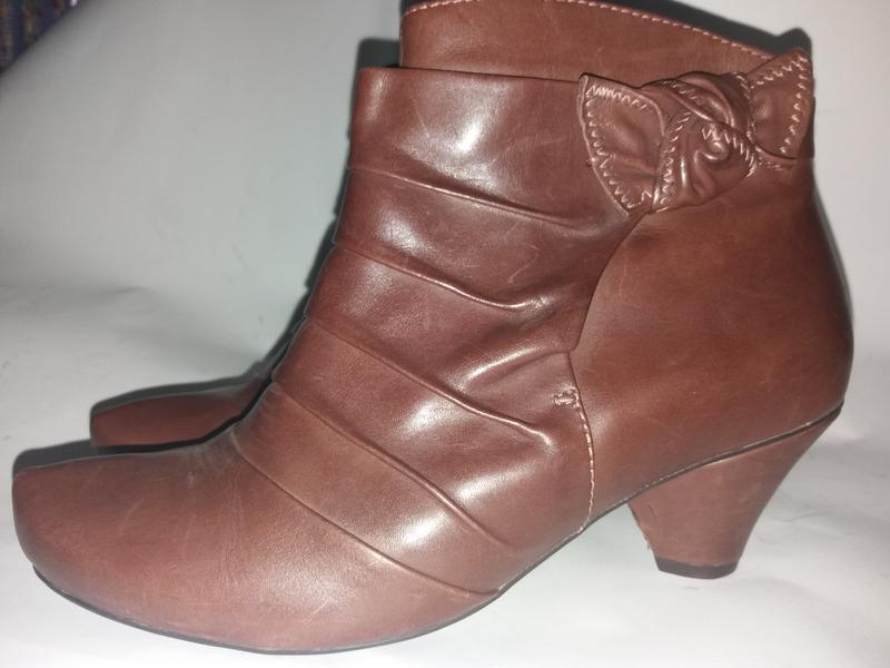Деми ботинки clarks soft wear 7р(41)