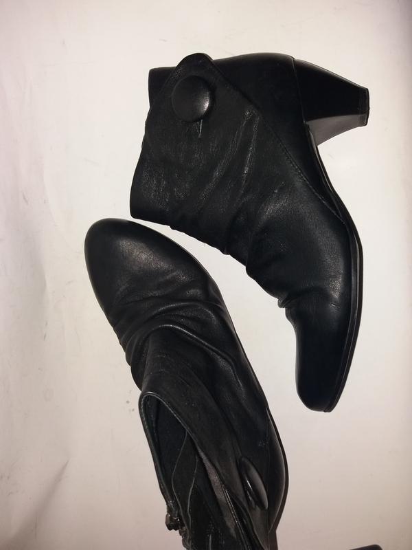 Деми кожаные ботинки clarks 6р(39)