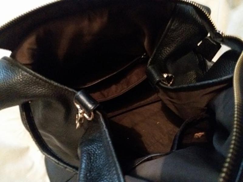 Большая вместительная кожаная сумка. - Фото 4