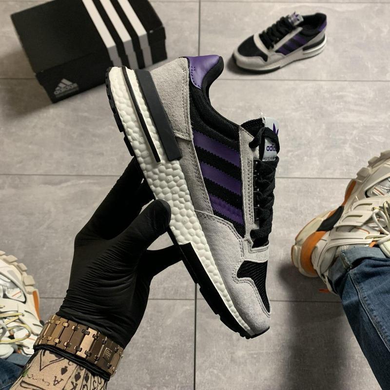 Adidas zx 500 violet gray.