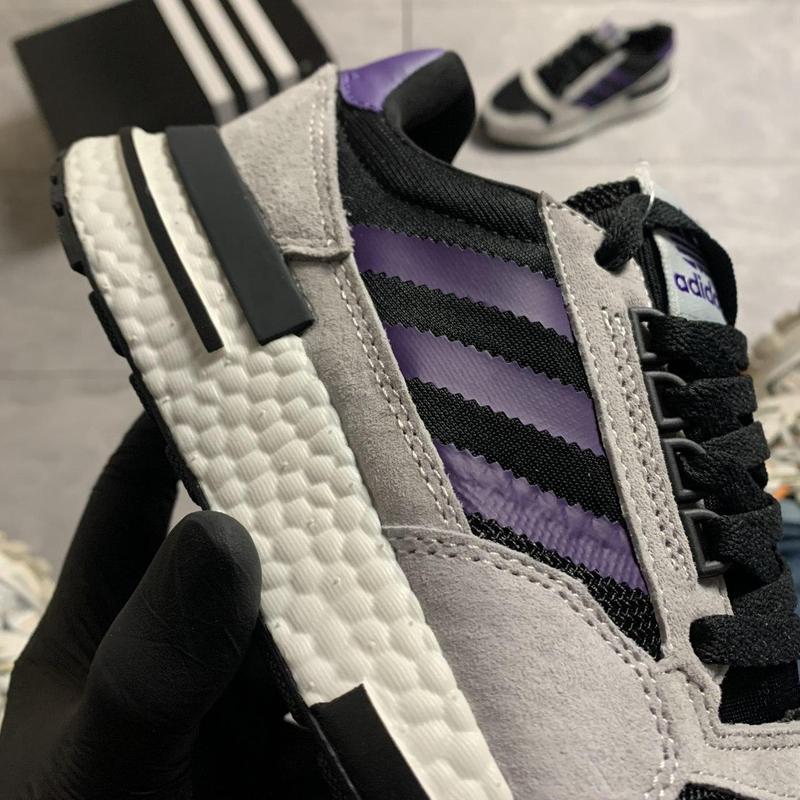 Adidas zx 500 violet gray. - Фото 2