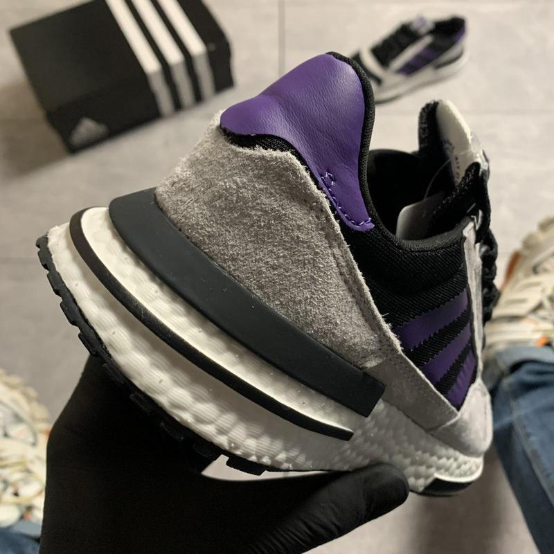 Adidas zx 500 violet gray. - Фото 3