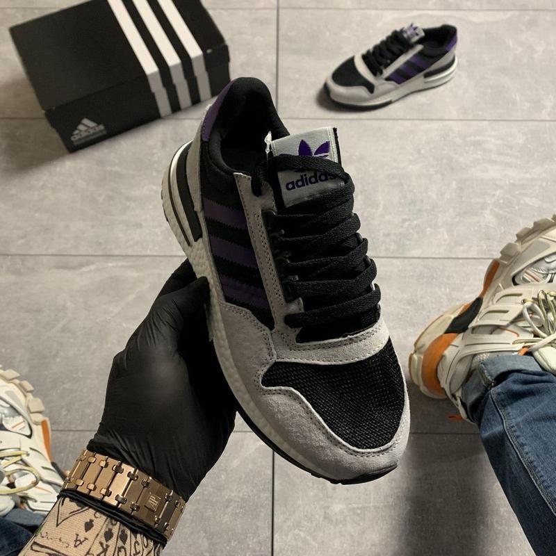 Adidas zx 500 violet gray. - Фото 4