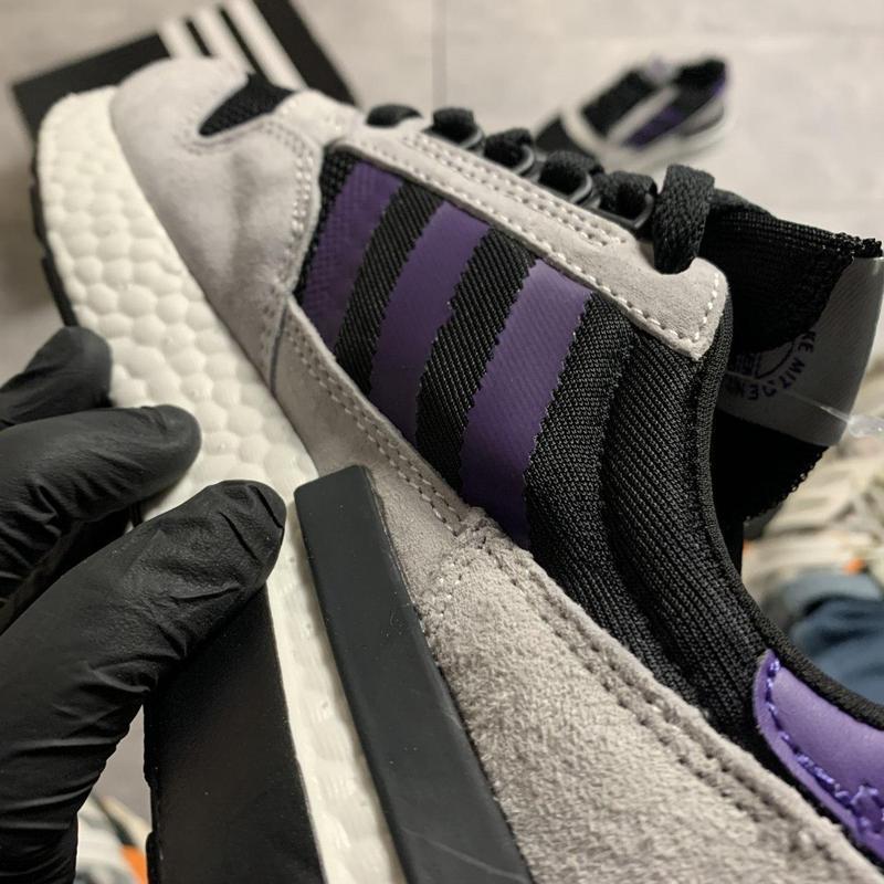 Adidas zx 500 violet gray. - Фото 6