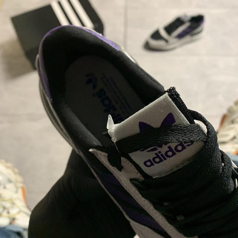 Adidas zx 500 violet gray. - Фото 7