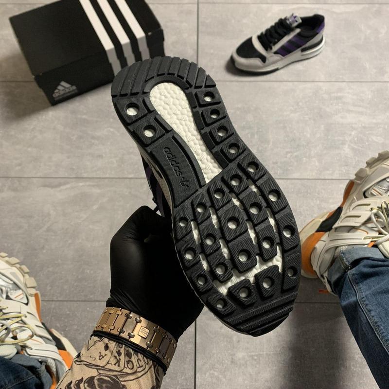 Adidas zx 500 violet gray. - Фото 9