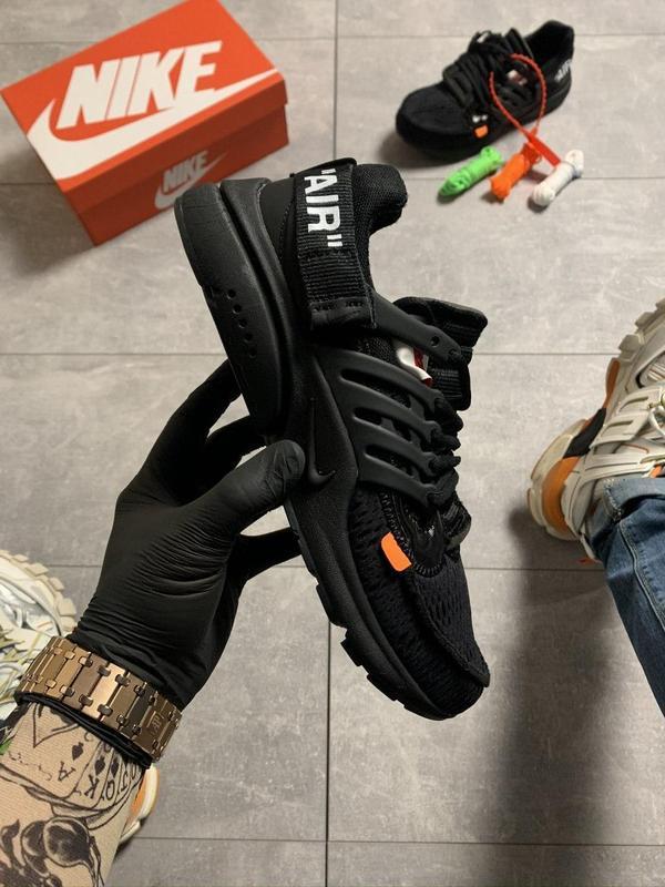 Nike air presto black x off white.