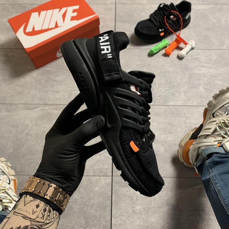 Nike air presto black x off white. - Фото 2