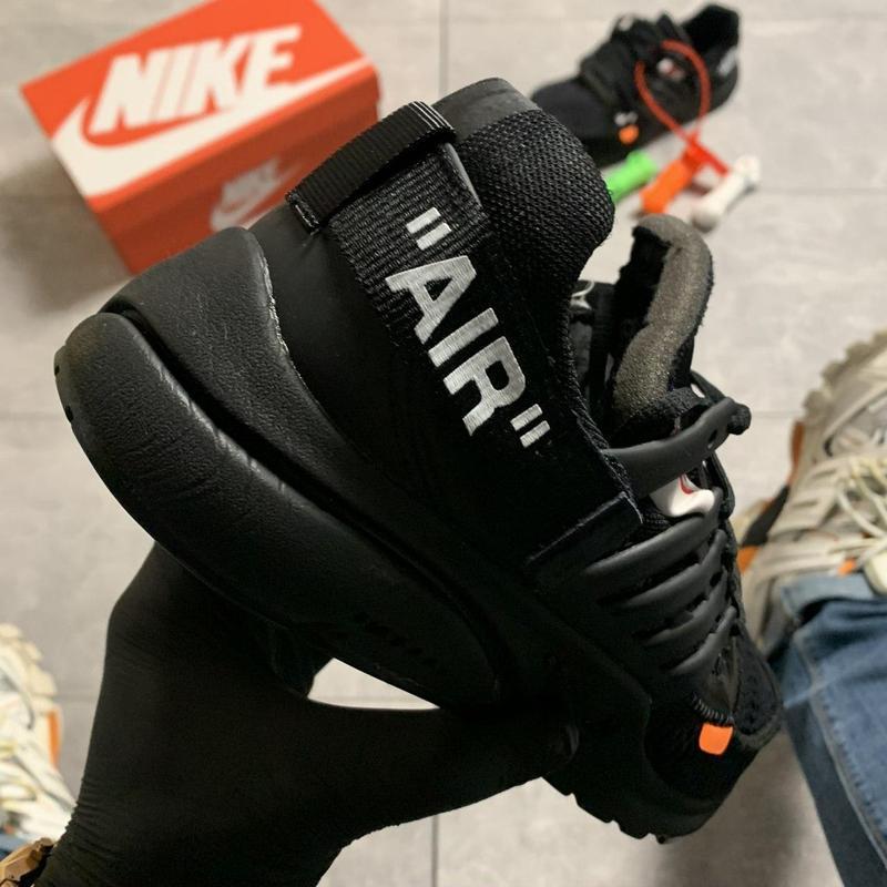 Nike air presto black x off white. - Фото 3