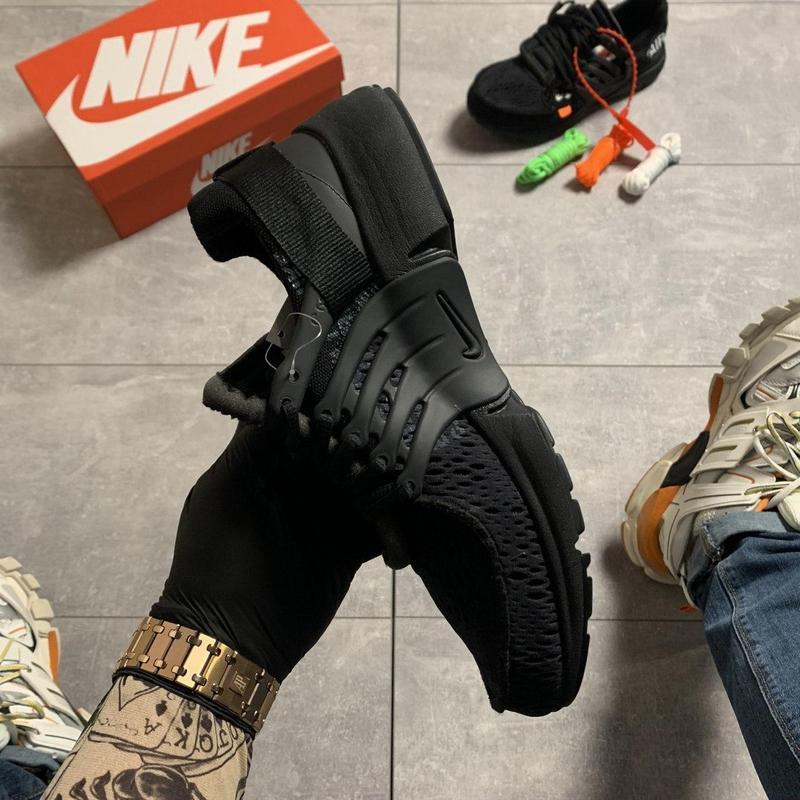 Nike air presto black x off white. - Фото 4