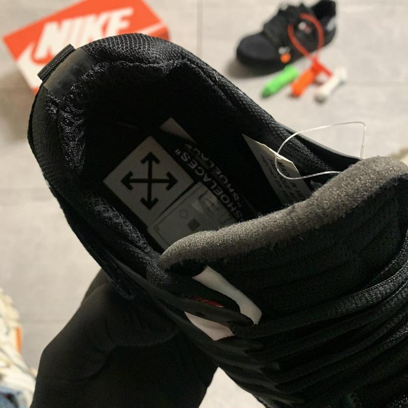 Nike air presto black x off white. - Фото 5