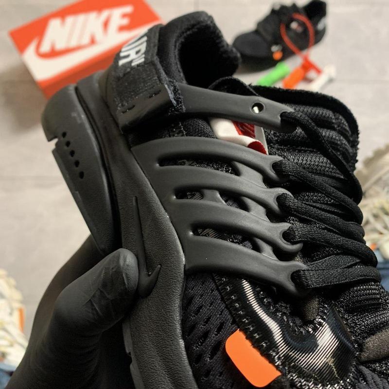 Nike air presto black x off white. - Фото 6