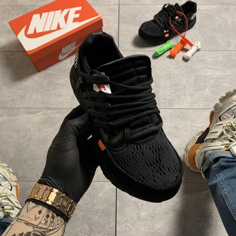 Nike air presto black x off white. - Фото 7