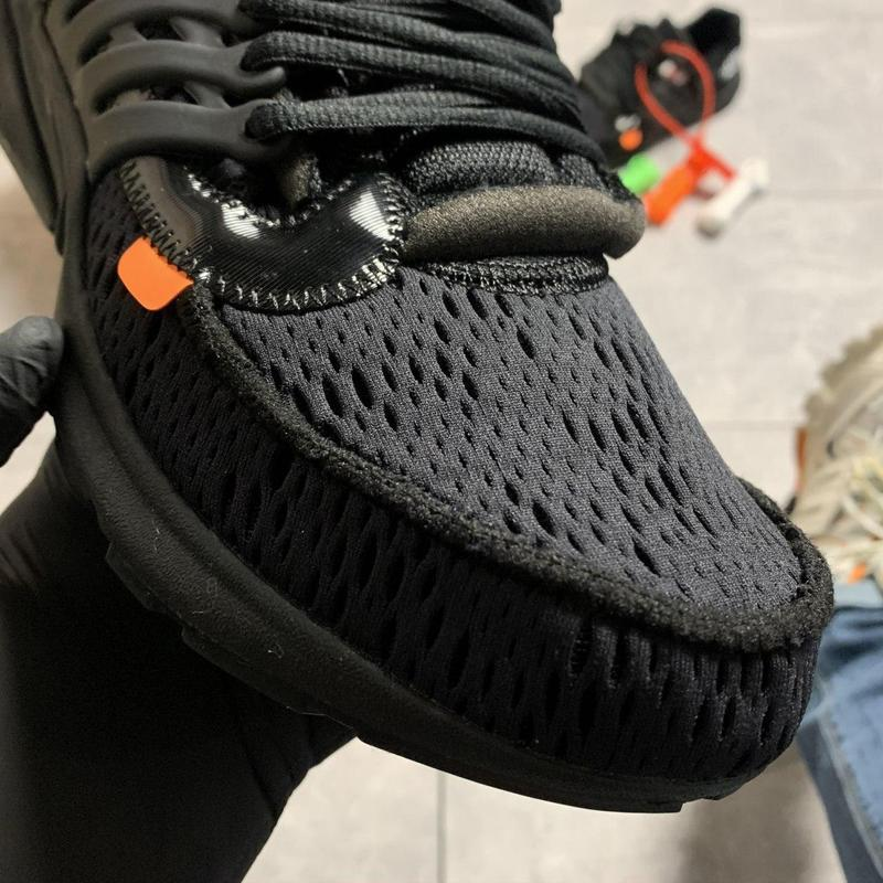 Nike air presto black x off white. - Фото 10
