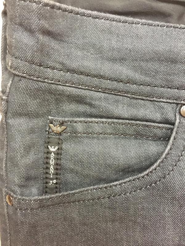 Джинсы armani jeans прямые р.27 - Фото 4