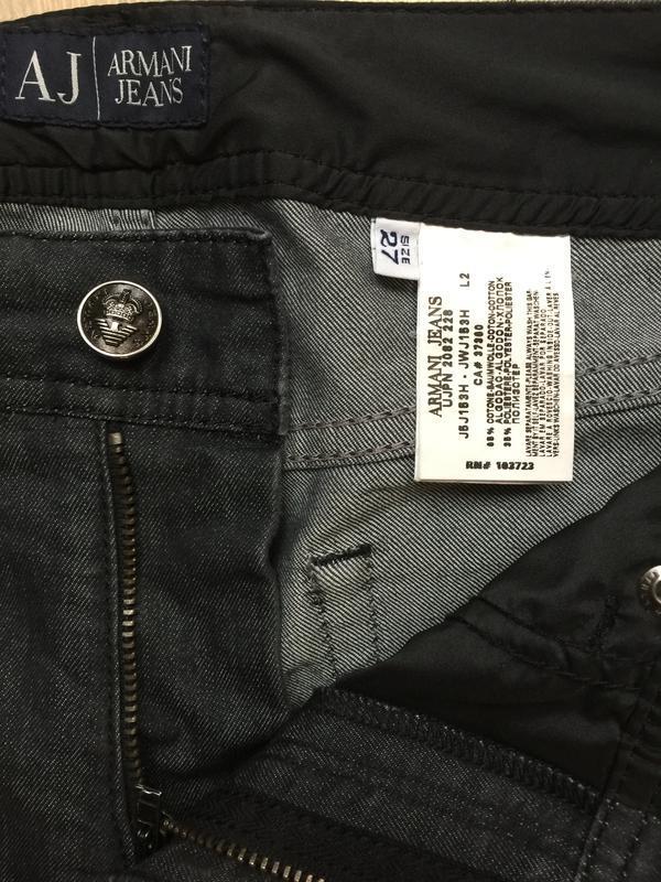 Джинсы armani jeans прямые р.27 - Фото 5