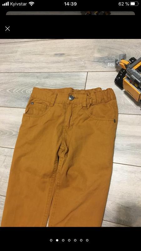Стильные горчичные брюки штаны чино для мальчика подростка кот... - Фото 3