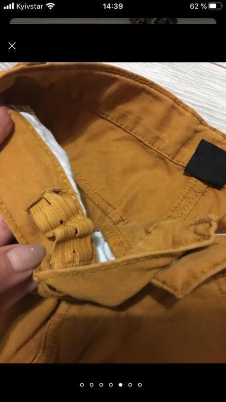Стильные горчичные брюки штаны чино для мальчика подростка кот... - Фото 6