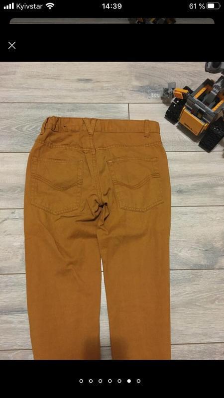 Стильные горчичные брюки штаны чино для мальчика подростка кот... - Фото 7