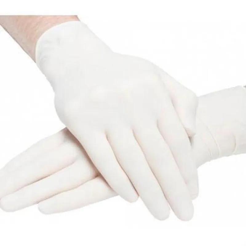 Перчатки медицинские латексные опудренные