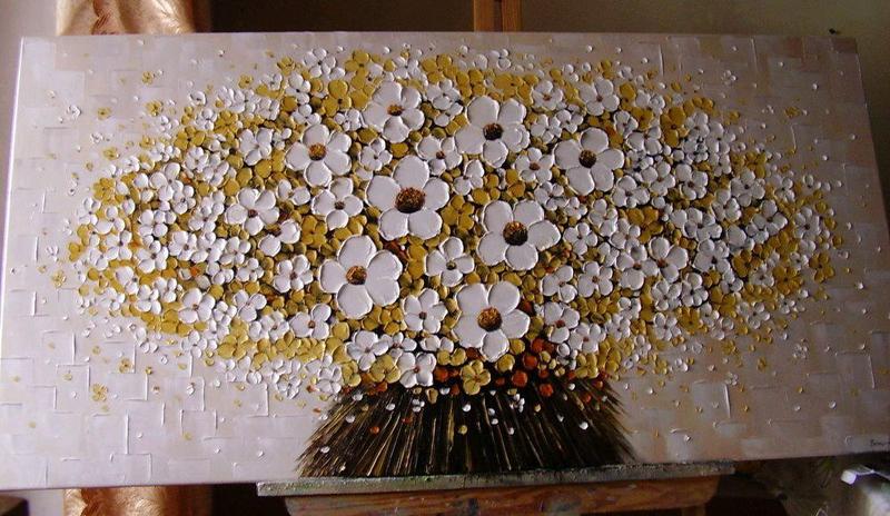 Картина маслом Феєрія квітів 120*60см
