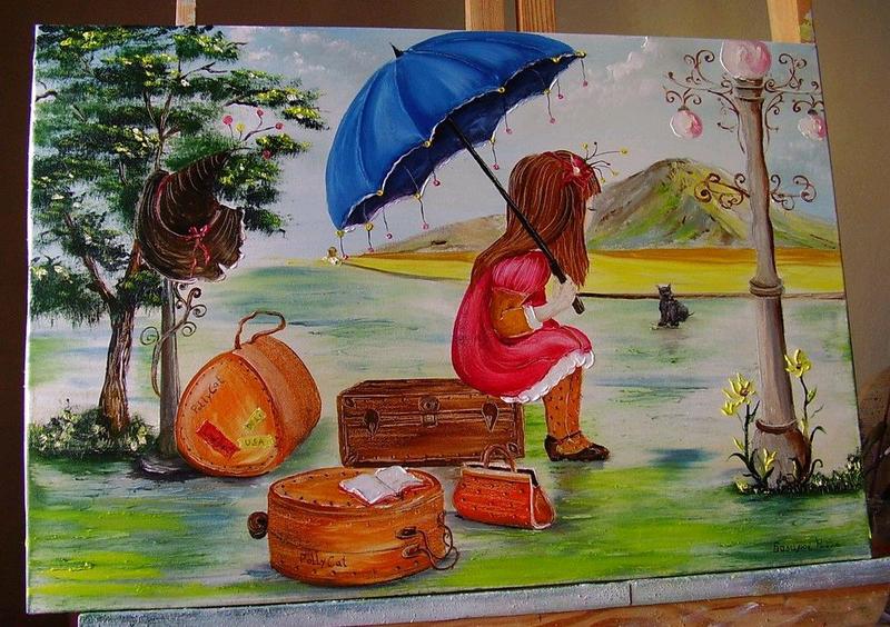 Картина маслом На пероні... 40*60