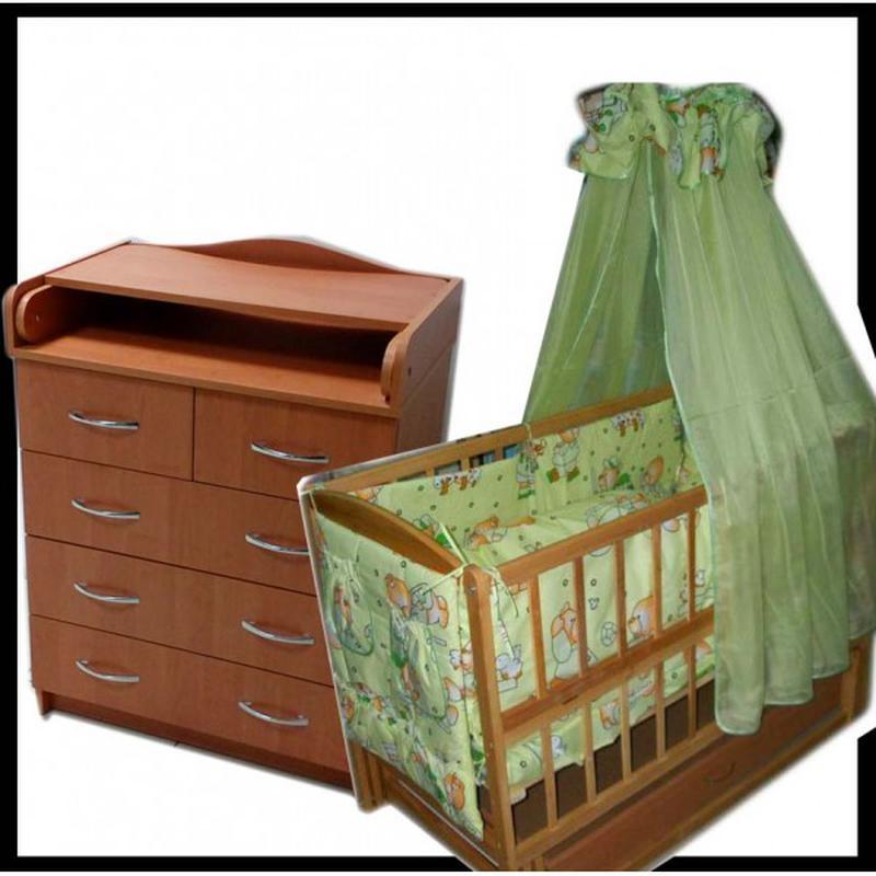 Акция! Полный комплект мебели! Комод, кровать, матрас кокос, пост - Фото 7