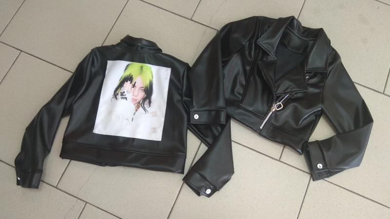 Куртка косуха для девочки с нашивкой billie eilish, билли айлиш - Фото 6