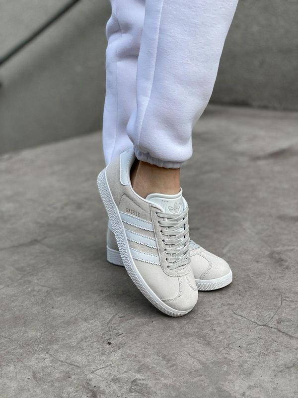 Женские кроссовки adidas gazelle grey - Фото 6