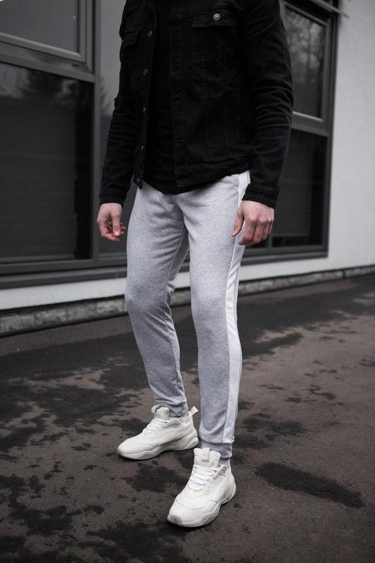 Мужские спортивные штаны серого цвета - Фото 6
